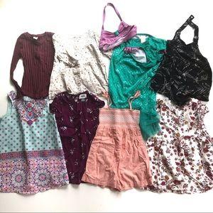 Ten Piece Toddler Girls 3T Summer Fall Lot!